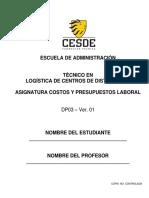 Guía Académica Costos y Presupuestos 2016
