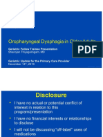 Oropharyngeal Dysphagia In Older Adults