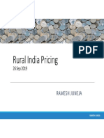 Rural Pricing strategy