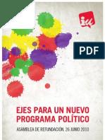 Ejes Para Un Nuevo Programa Politico