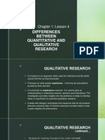Chapter 1.4 - Differences Between Quantitative and Qualitative Research