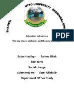 Social Change Education in Pakistan