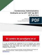 Apuntes del  Proceso Contencioso Administrativo Ordinario en la LEY 1437.ppt