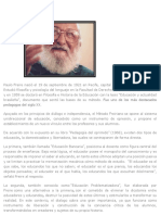 Paulo Freire Informacion Video