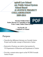 WCPSS Collaborative With Campbell Juvenile Justice Project 2009-2014