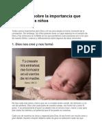 Versículos sobre la importancia que Dios da a los niños.docx