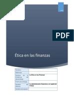 La Etica en Las Finanzas