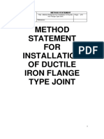 Method Statement Ductile Iron Flange Type Joint Pipe LTEST