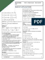 Ensembles Et Applications Cours Et Exercices Corriges