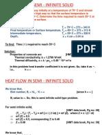 43-Numericals on Semi-Infinite Bodies Chart Solutions-03-Sep-2019Material I 03-Sep-2019 Numericals on Semi Infinite Solids
