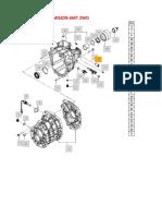 Catalogo de Partes y piezas con codigos originales de caja de Cambios de Mahindra de 6 Velocidades