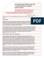 Evolution of Nuclear Doctrine and Its Effects on Conventional Force Structure