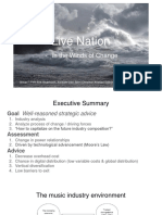 Strategic Management and the Case of Live Nation