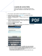 Configurar La Cuenta de Correo Zoho Android