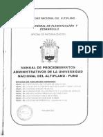 Manula de Procedimientos Administrativos de La UNAP