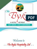 The Byke Hospitality Ltd. - Pure Veg Hotel Chain in India