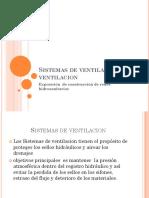 Sistemas de Ventilación y Ventilacion