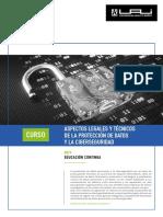 Aspectos Legales y Tcnicos de La Proteccin de Datos y La Ciberseguridad