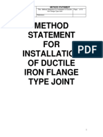 method statement of installation of ductile iron flange