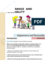 Lesson 2 - Appearance and Personality