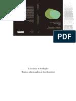 Jose Lambert Literatura e Traducao 2011