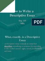 Descriptive Eassay