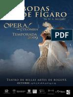 Programa de Mano Bodas de Figaro Ópera de Colombia
