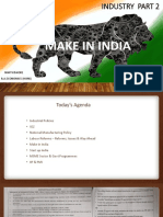 Industry Part 2 - Make in India, Start Up India by Nihit Kishore Lecture 19