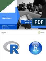 1) Introducción al lenguaje de programación en R