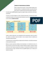 Mecanismos de Transferencia de Materia