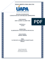 Elaboración y Evaluación de Proyectos - Tarea Unidad i