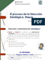 2. Proceso Dirección Estrategica. Etapas