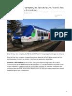 TER SNCF 5 Fois Plus Polluants Que Les Voitures