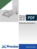 Manual de operación Precisa XM 60-66