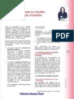 2004 Fiscalité Applicable Aux Stés Réalisant Des Projets Immo