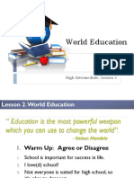 World Education - Lesson 2