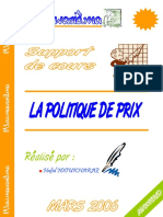 POLITIQUE DE PRIX