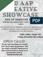 UD AAP Creative Showcase Open Call 2019