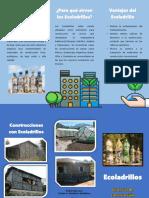 Folleto 1 Ecoladrillos Material de Construcción Ecológico