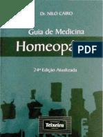 Guia de Medicina Homeopática 1058 Páginas Capa Dura Por Nilo Cairo - Teixeira - 21ª Edição (Imagem)