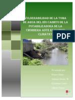 Vulnerabilidad de La Toma de Agua Del Río Caimito de La Potabilizadora de La Chorrera Ante El Cambio Climático
