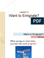 Want to Emigrate - Lesson 3