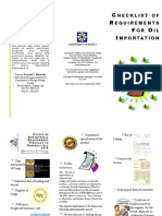 Checklist of Requirements for Oil Importation