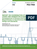 Report on Coordination of Grid Codes and Generator Standars