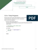 C program tricky programs
