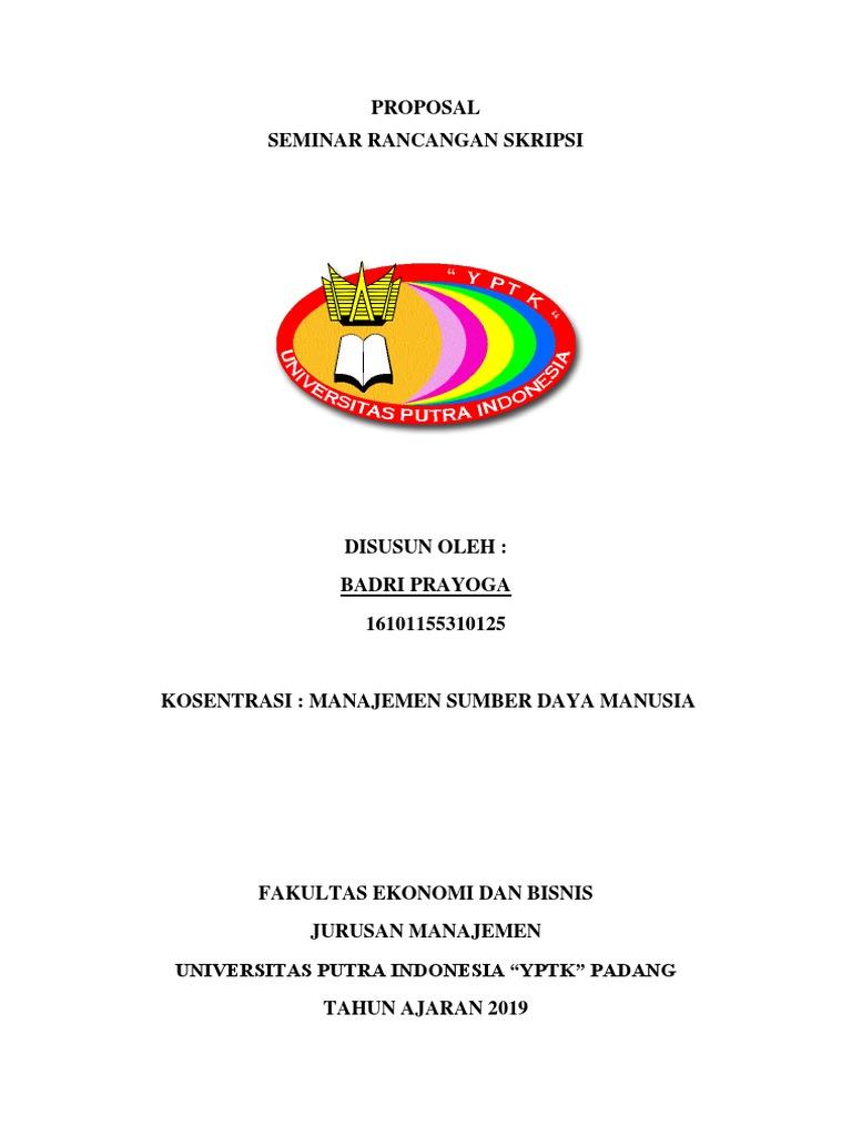 Contoh Cover Skripsi Upi Yptk Padang