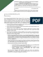 Surat Kewajiban Unggah Laporan Kemajuan Penelitian Tahun Jamak, Laporan Akhir Penelitian Tahun Tunggal Dan Surat Pernyataan Tanggungjawab Belanja (SPTB)