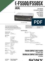 Sony Cdx f5500