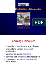 Channel Institutions - Retailing