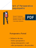 Management of Perioperative Coagulopathy